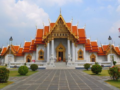 Marble Temple (stardex) Tags: temple building architecture bangkok thailand marbletemple wat sky cloud religion culture buddhist