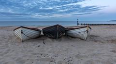 Three Boats (nicklucas2) Tags: seascape beach boat sea sand seaside solent groyne bournemouth