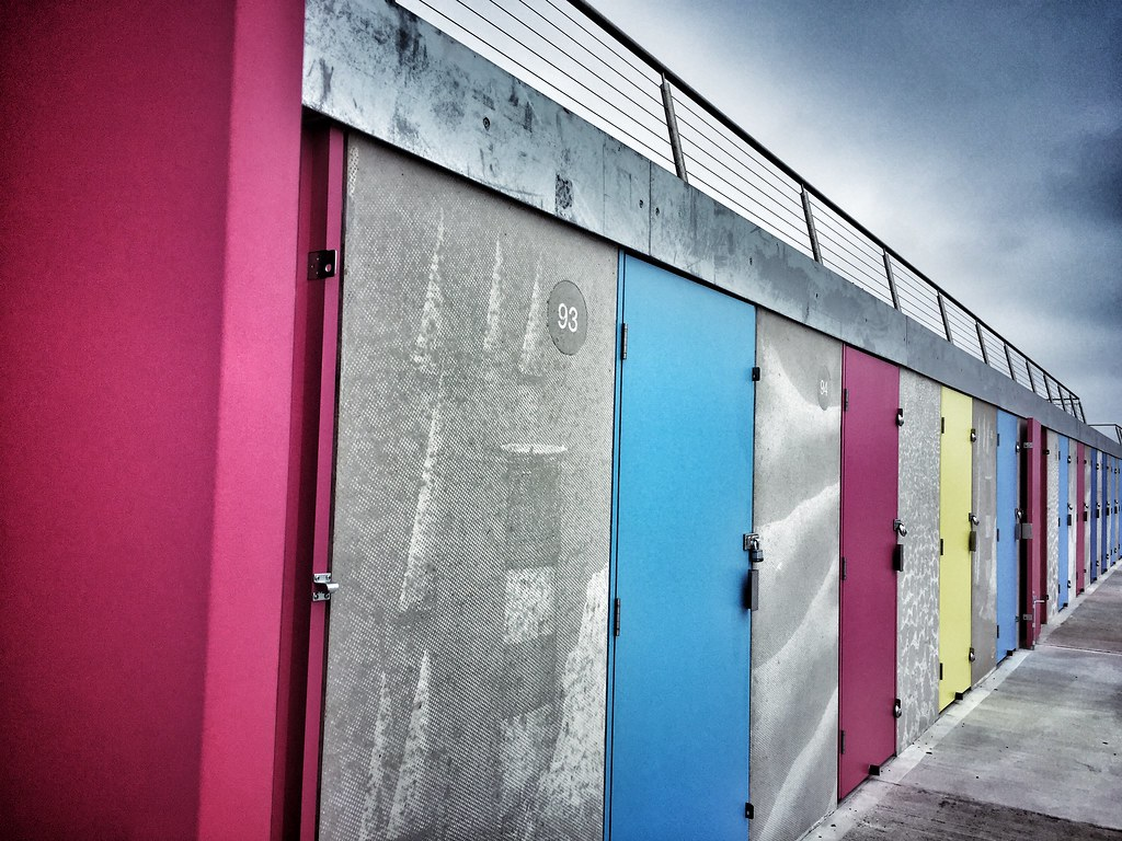 The  new beach huts at Milford on Sea week21
