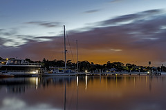 Pre-Dawn Wangi Colours (Sterling67) Tags: predawn sunrise outdoor outside 2470 water reflections lakemacquarie wangi boats yachts clouds stormy skies