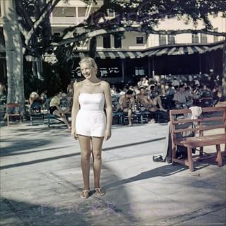 Banyan Court Wahine Moana 1950s