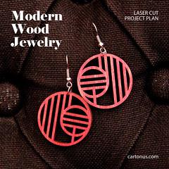 Art-deco earrings (cartonus) Tags: earrings lasercut project plan vector model mandarin snowflakes woman jewelry wooden artdeco modern filigree plywood hardwood