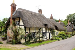 Medieval Thatched Cottage * (clivea2z) Tags: unitedkingdom greatbritain hampshire testvalley andover rivertest wherwell cottage thatchedcottage thatchedroof medievalcottage cliveardontz