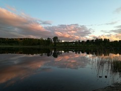 Now (ΞSSΞ®®Ξ) Tags: ξssξ®®ξ huaweip9lite water lake 2017 hälsingland sweden sverige countryside tree noedit snap outdoor evening landscape reflection sky sunset river
