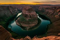 Horseshoe Bend Sunset (CMy23) Tags: redrocks canyon coloradoriver desert hiking sunset arizona horseshoe bend absolutelystunningscapes