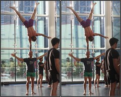 Warm-Up, Compagnie XY (France), George R. Brown Convention Center, Houston, Texas 2017.06.02 (fossilmike) Tags: houston texas compagniexy france acrobats discoverygreen 3d crosseye