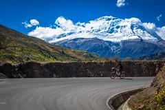 Philip with Huascaran mountain.
