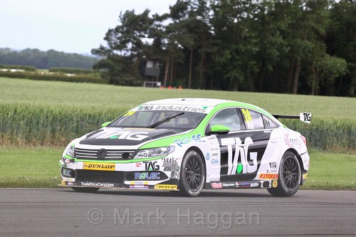 Jake Hill in BTCC action at Croft, June 2017