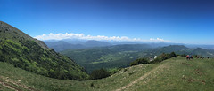 Heading Down (Ville Nikula) Tags: france blue vaellus pyrenees hiking mountains green vuori bugarach vuoristo mountain