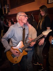 "Blues Power - Ron Butkovich ""walks the bar"" at San Fransisco's Saloon Bar (stevecarney) Tags: bukovich ron dudes cool livemusic blues power saloon bar oldest san francisco dive live music"
