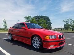 20170610_154349 (UDPride) Tags: 1997 bmw m3 e36 sedan hellrot bright red germany contour spoke black leather