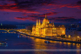 The Golden Hungarian Parliament Building
