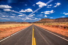 Open Road (ap0013) Tags: road openroad open new mexico desert blue skies vanishingpoint desertroad blueskies nm newmexico roadtrip pavement
