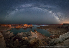 Celestial Arc (David Swindler (ActionPhotoTours.com)) Tags: alstrompoint lakepowell milkyway pano stars utah arc lake night nightphotography nightscape panoramic
