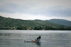 Day 170 : Is for ... The Summertime Sadness (Storyteller.....) Tags: summetime summer sadness girls beach sea ocean friends solitude 365 deep365 melancholy blue sky greece lake