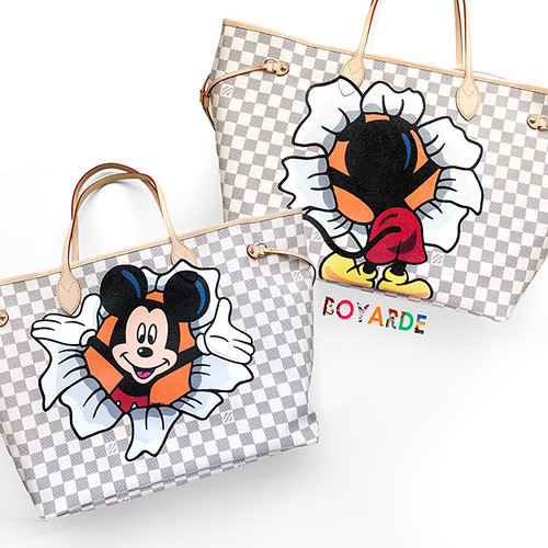 Louis Vuitton Mickey Mouse in and out damier