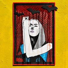Vampire midwinter (id-iom) Tags: art arts bat blood brixton cool crystalresin drip england girl head idiom lady lasercut london midwinter paint paintmarker popart solstice spraypaint uk urban vampire woman wood