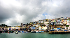 Blue sky on the way (Ken Came) Tags: brixham devon harbour harbor sea westcountry landscape buildings kencame nikon d7000