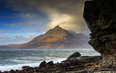 The light that stopped me in my tracks. (lawrencecornell25) Tags: landscape waterscape mountains cuillins scenery scotland skye isleofskye elgol nature outdoors nikond4