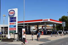 Esso, Weynouth Dorset. (EYBusman) Tags: esso petrol gas gasoline filling service station garage weymouth town centre dorset exxon mobil humble eybusman enco