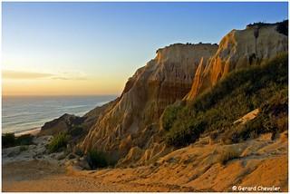 Praia da galé (Portugal) - les falaises.