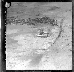 No ref (14454 of 'Muhawir-Wadi Khidr-Wadi Jabariya' roll) Qasr Muhaiwir / Mheywer (APAAME) Tags: blackwhite cellulosenegative oblique royalairforce scannedfromnegative siraurelstein uclinstituteofarchaeology uclinstituteofarchaeologyspecialcollections aerialarchaeology aerialphotography middleeast airphoto archaeology ancienthistory