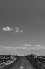 Well .. the road is longer than I expected (sanaturki) Tags: road monochrome blackandwhite photography nikon sky clouds infinite nature horizons