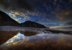 """"""" TRAETH """" (Wiffsmiff23) Tags: heritagecoastlinesouthwales traeth traethmawr reflections reflection beach southwales clouds coast epic trek"""