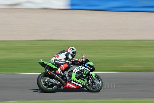 Jonathan Rea in World Superbikes at Donington Park, May 2017