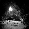Gateway (Scott Holcomb) Tags: lavatube cinderconelavabeds mojavenationalpreserve california kowasix kowa13555lens kodak400txfilm improvisedtripod bw 6x6 120film mediumformat epsonperfectionv600 photoshopdigitalization