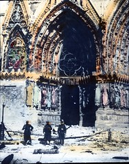 doorway of riheims cathedral after the bombardment (foundin_a_attic) Tags: doorway riheims cathedral after bombardment war europe great
