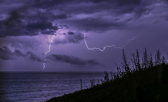 Chasing the thunder (Danny VB) Tags: chasing thunder chasingthunder storm stormynight summer gaspesie quebec canada canon 6d dannyboy clouds tonnerre éclair sea ocean water atlantic atlanticocean sigma30mm14 30mm14