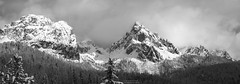 Cadini die Misurina snowy spring panorama - first viewpoint in black and white (Bernhard_Thum) Tags: bernhardthum thum cadinidimisurina blackandwhite nature dolomiti dolomites dolomiten h6d100 hc22100 hasselblad alps elitephotography capturenature landscapesdreams legacy