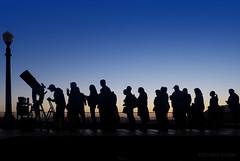 Star Party (MacroMarcie) Tags: sliderssunday hss starparty astronomy griffithobservatory sunset sundown silhouette telescope people olympus penf losangeles sky