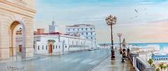 Alger - vers l'Amirauté. (Abdelkrim Hamri peintre) Tags: algérie alger algériepaysage peinture