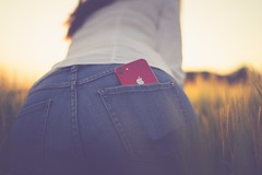 RƎD (Stefan (back from Scotland, but need some time)) Tags: mobile bokeh dof depthoffield dephtoffield shallowdepthoffield iphone productred red jeans blue woman back rear booty backside pointofview pov sonya7ii sel35f14z summer summerfeeling