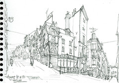 Angers, (Croctoo) Tags: croctoo croquis croctoofr angers maine et loire ville crayon
