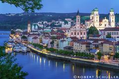 A beautiful city framed by 3 rivers. (Robert Schüller) Tags: passau danube inn ilz bavaria germany