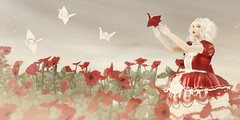.teach your love how to fly. (Jasmine * Stardust it's magic) Tags: sl second life moon amore truth maitreya catwa vista bento little branch love magical girl flowers red dress