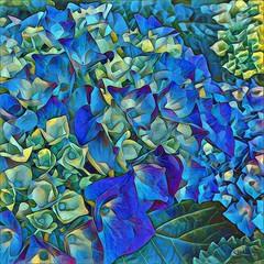 Hydrangea Abstract 1 (GeminEye27) Tags: photoshop topazclean topazsimplify glowingedgesfilter paintbrush layerblending awardtree