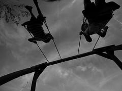 Skywalkers (un2112) Tags: g80 818 balaton hungary summer june swing blackandwhite monochrome bw kids son siófok
