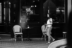 Photographer (burnt dirt) Tags: houston texas downtown city town mainstreet street sidewalk corner crosswalk streetphotography fujifilm xt1 bw blackandwhite girl man woman people person couple pair group crowd walking talking standing looking boots heels stilettos sandals model photographer camera lens dress skirt shorts glasses sunglasses purse bag phone cellphone pose longhair shorthair ponytail kneehigh blonde brunette headphones cap hat asian friends bike bicycle prom lovers