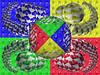 Vierfarb-Phantasie (Veit Schagow) Tags: grafik kugeln 3d vierfarbdarstellung colors farben vierfarbig farbigkeit formen allegorie allegory balls geoide