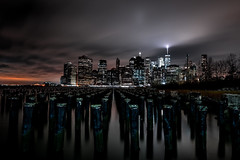 New York.... (Tim RT) Tags: tim rt usa united states america new york manhattan down town empire mine brooklyn east river park finacial district one wolrd trade center long time exposure night light scene shot life style clouds moving yellow blue grey dark pits inspired hyperbeast flick visual picture beautiful city landmarc scape landscape travel world fuji fujifilm xt xt2 xf1024mm protography