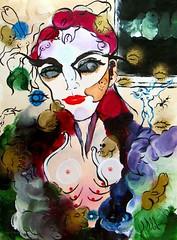 LE REGARD PARLE PARFOIS PLUS QUE LES MOTS (Claude Bolduc) Tags: outsiderart artsingulier artbrut visionaryart intuitiveart teen lowbrow spirituality selftaughartist autodidacte peinture anorexy horsnorme artcollectors painting surrealism
