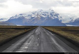 Driving towards Vatnajökull Glacier, Iceland