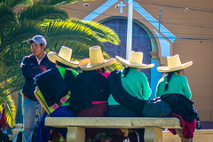 A common sight of Peruvian hats.