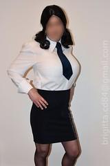 Schoolgirl uniform with huge breastforms (brigitta.cd) Tags: crossdresser breastforms schoolgirl uniform