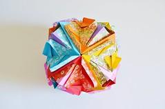 Baetica Kusudama (Byriah Loper) (Byriah Loper) Tags: origami modularorigami modular origamimodular byriahloper byriah paperfolding paper polyhedron polygon kusudama