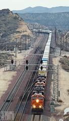 2014-12-20 Cajon Pass Summit CA BNSF7009 ES44C4 (maximaguy97) Tags: locomotive ge generalelectric gevo es44c4 bnsf bnsf7009 cajonpass summit intermodal